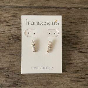 Francesca's Gold Tone & Cubic Zirconia Earrings